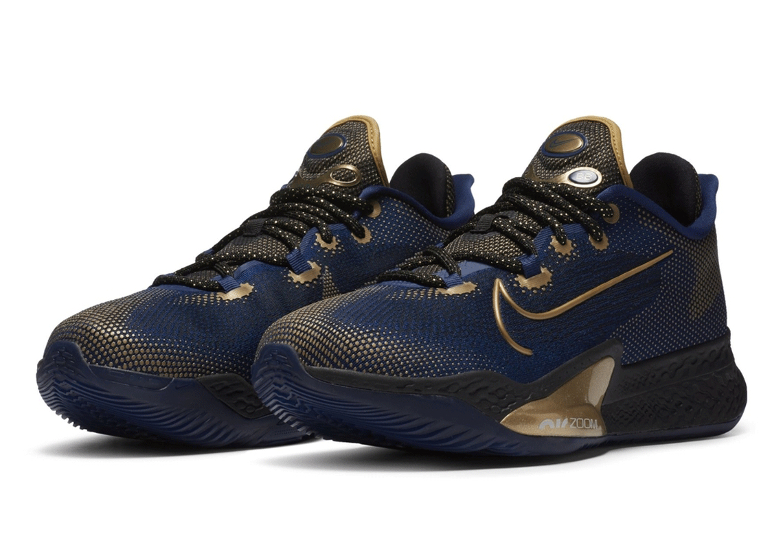 Nike Air Zoom BB NXT Navy Gold Release
