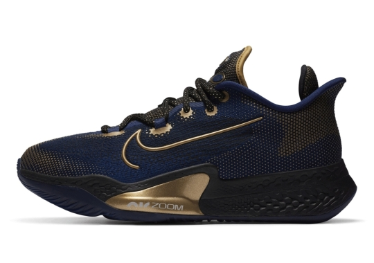 The Nike Air Zoom BB NXT Gets A Navy And Gold Mix