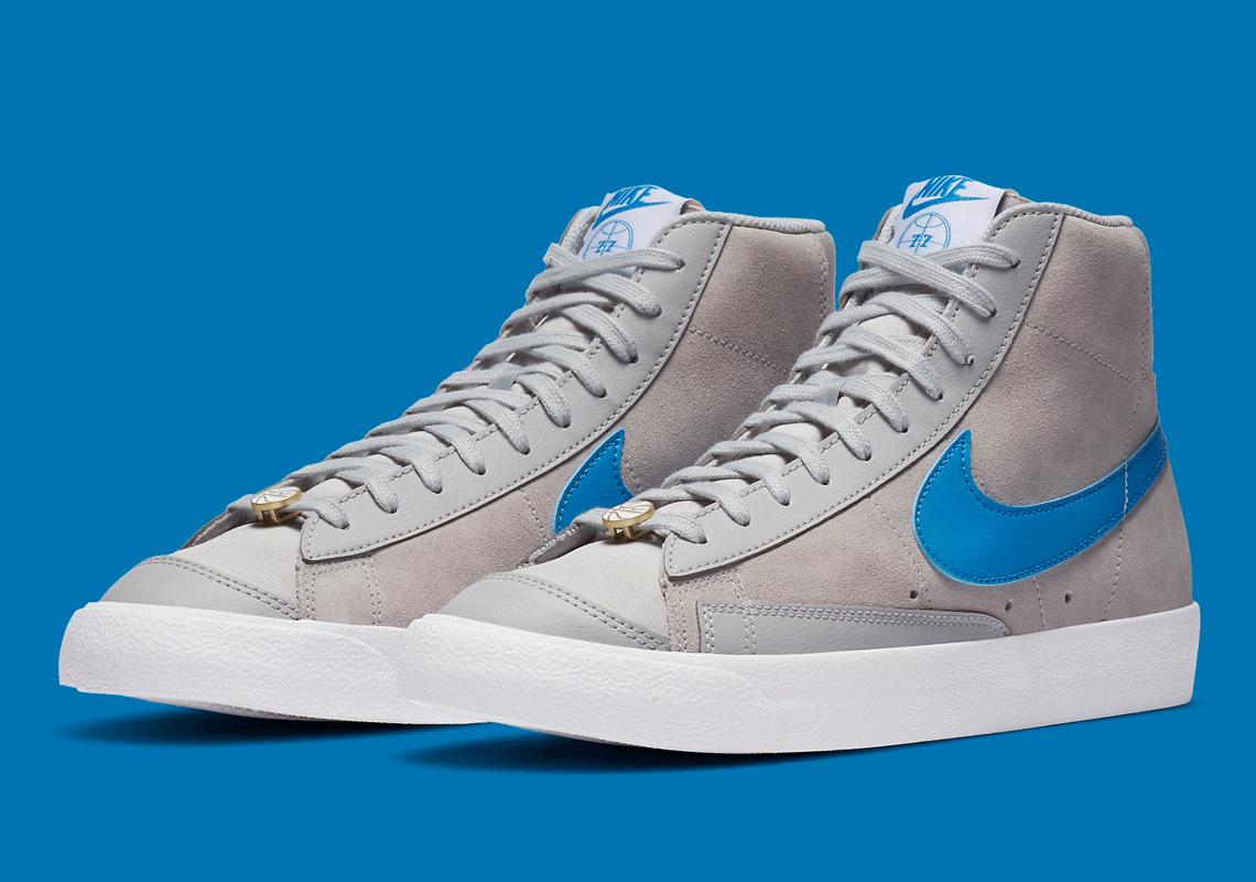 Nike Blazer Mid 77 Grey Fog Photo Blue