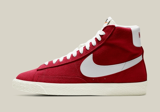 "Nike Blazer Mid '77 Appears In Kid-Exclusive ""Gym Red"""