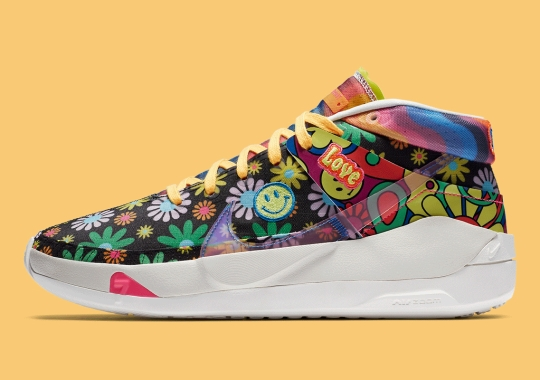 "The Nike KD 13 ""The Easy Money Snipers"" Spreads Love With Retro-Style Hippie Florals"