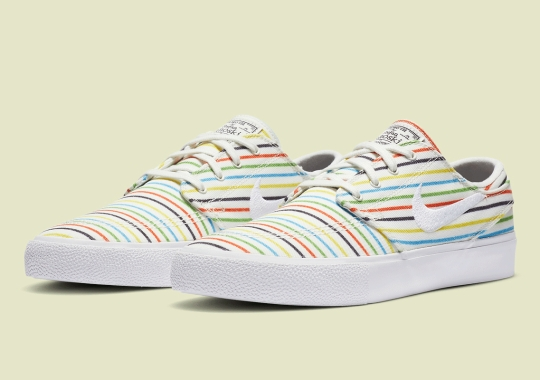 Nike SB Zoom Janoski Covered In Multi-colored Pinstripes