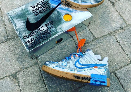 Virgil Abloh Blesses Stevie Williams With His Off-White x Nike Rubber Dunk