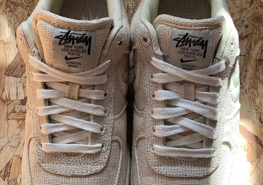 Stussy Delivers A Nike Air Force 1 Collaboration Dressed Entirely In Natural Hemp