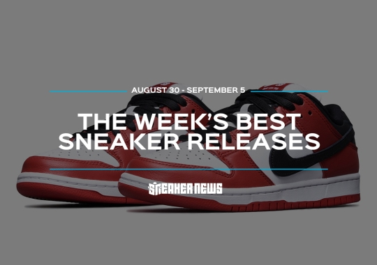 "The Nike SB Dunk Low ""Chicago"" And adidas Yeezy Quantum Headline This Week's Best Sneaker Releases"