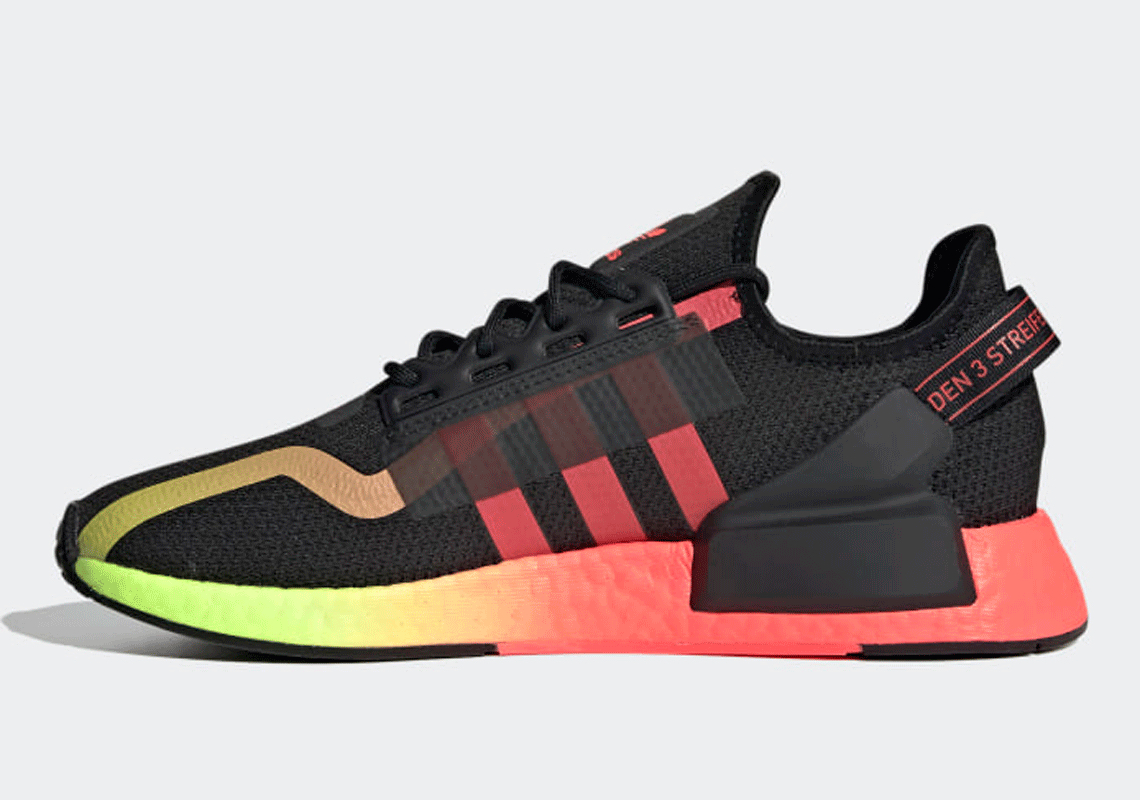 adidas NMD R1 V2 Signal Green Signal Pink Release | SneakerNews.com