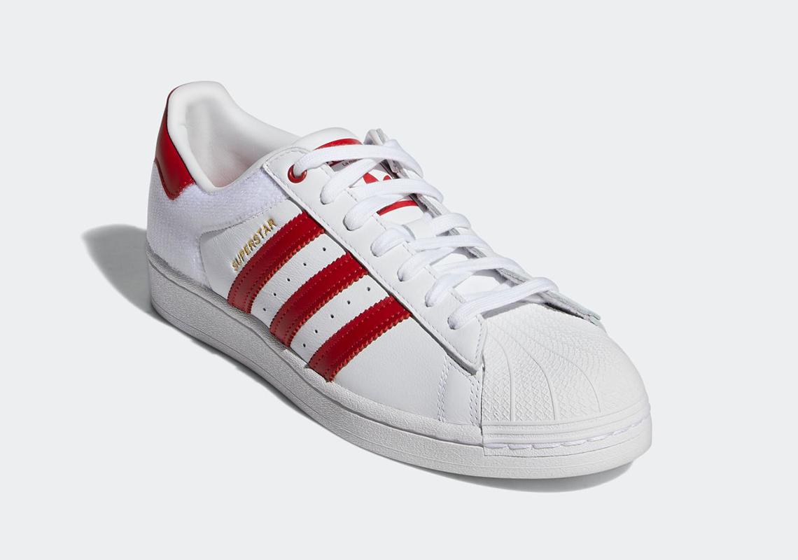 adidas Superstar White Red FY3117