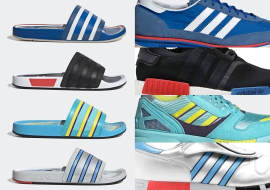 adidas To Drop A Set Of Adilette Slides Inspired By Iconic Silhouettes