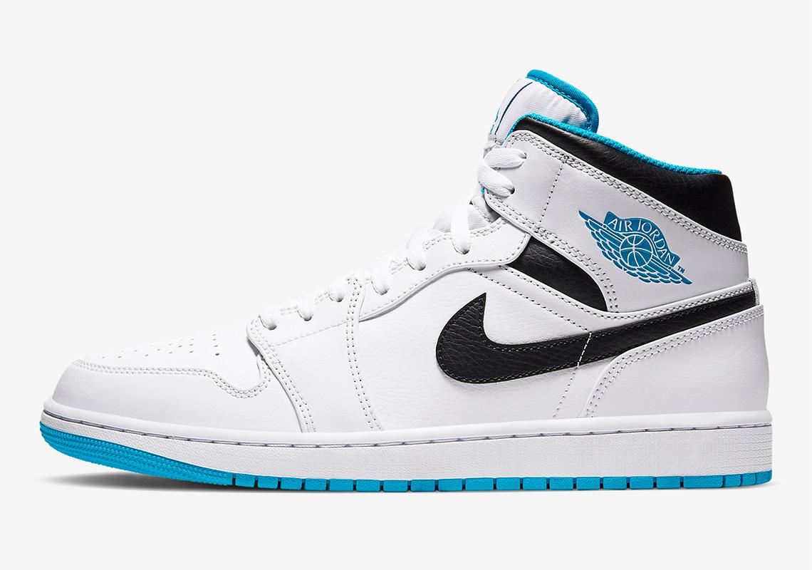 Air Jordan 1 Mid Laser Blue 554724-141