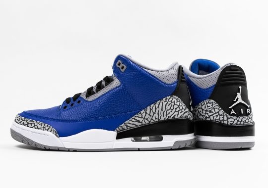"Air Jordan 3 ""Royal"" Hitting US Retailers In October"