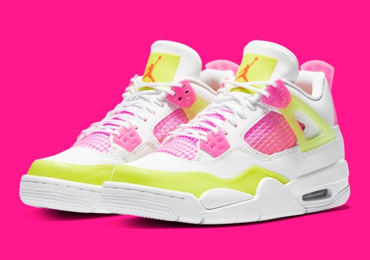 "Official Images Of The Kids-Exclusive Air Jordan 4 ""Lemon Venom"""