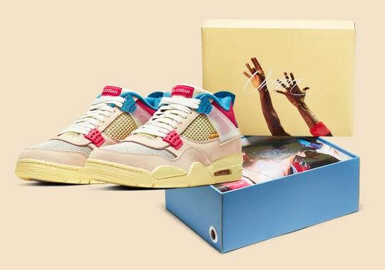 "Official Images Of The UNION LA x Air Jordan 4 ""Guava Ice"""
