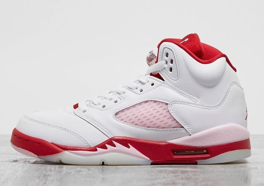 The Air Jordan 5 Pairs Pink Foam And Gym Red For Girls