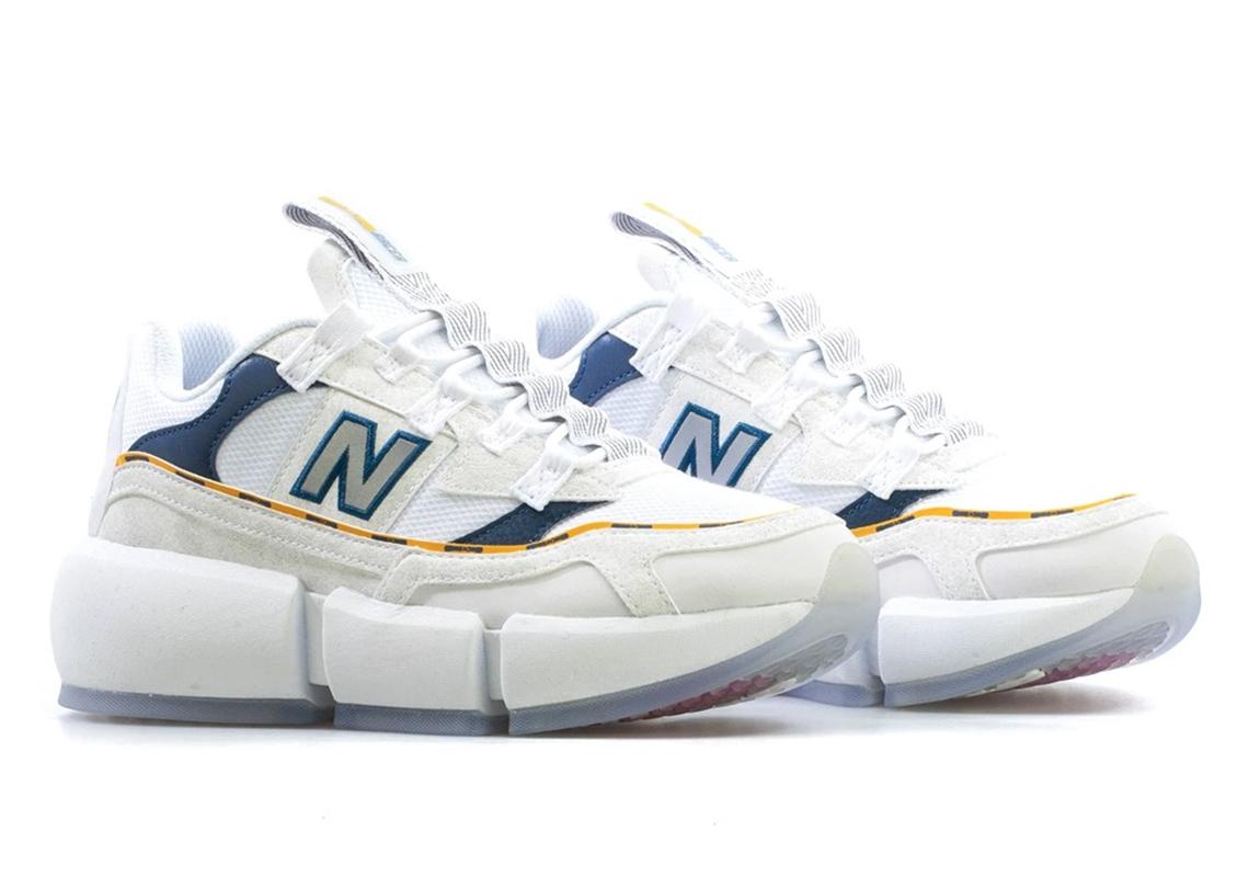 Jaden New Balance Vision Racer White Navy Yellow | SneakerNews.com