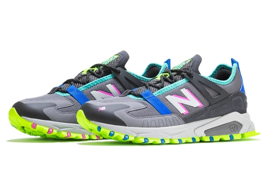 The New Balance X-Racer Pairs Grey Uppers With Bright Neon Accents