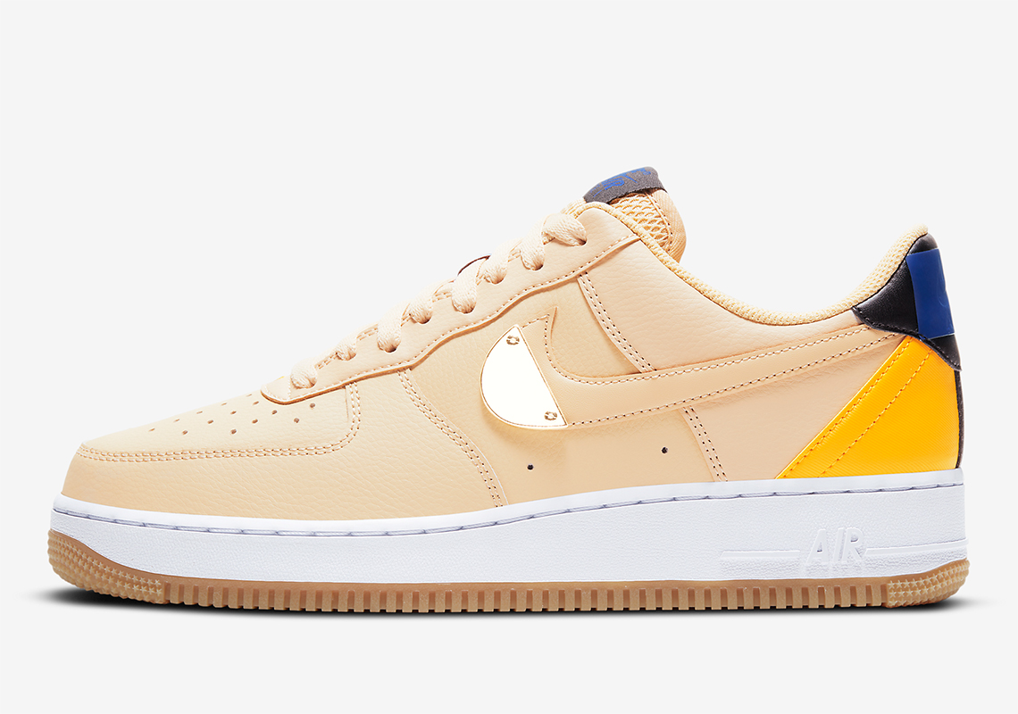 Nike Air Force 1 Low Nba Tan Yellow Ct2298 200 Sneakernews Com