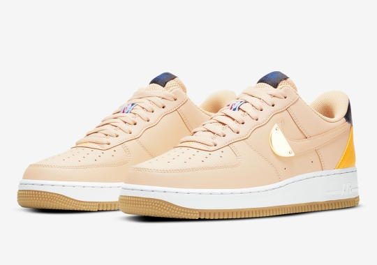 The Nike Air Force 1 Low NBA Pack Returns With Gold Plating And Upside Down Logos
