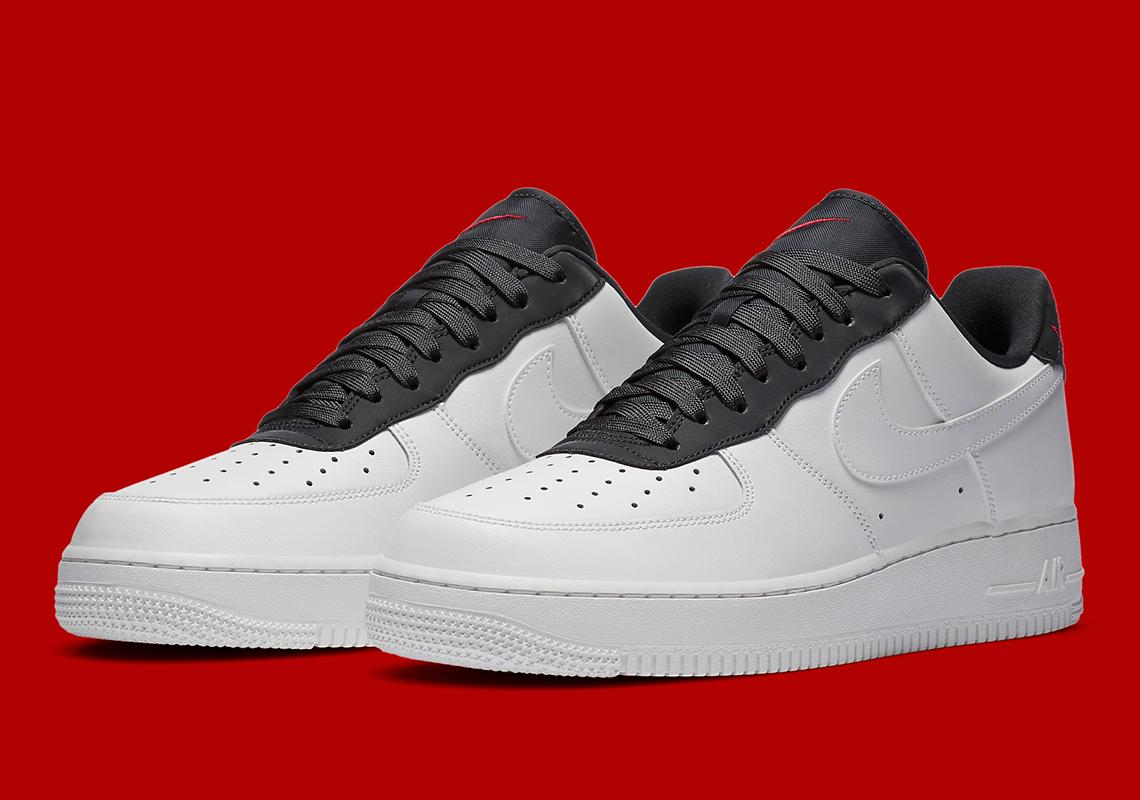 Nike Air Force 1 White Black Red CJ1629