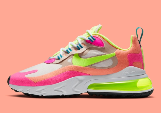 Bright Neon Highlighters Arrive Once Again On The Nike Air Max 270 React