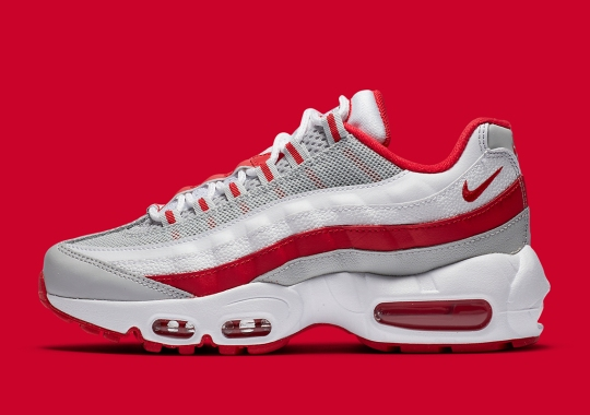 "The Nike Air Max 95 Recraft ""Hyper Red"" For Kids Just Released"
