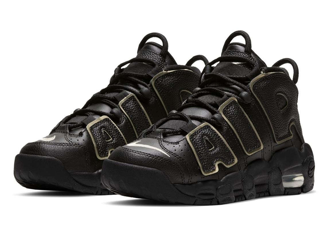 Nike Air More Uptempo Black Gold