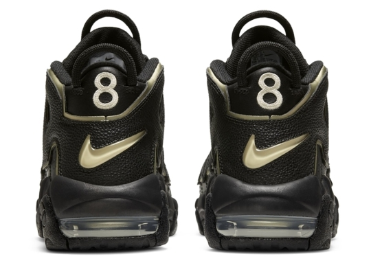 This Black And Gold Nike Air More Uptempo Honors Scottie Pippen's Olympic Jersey Number