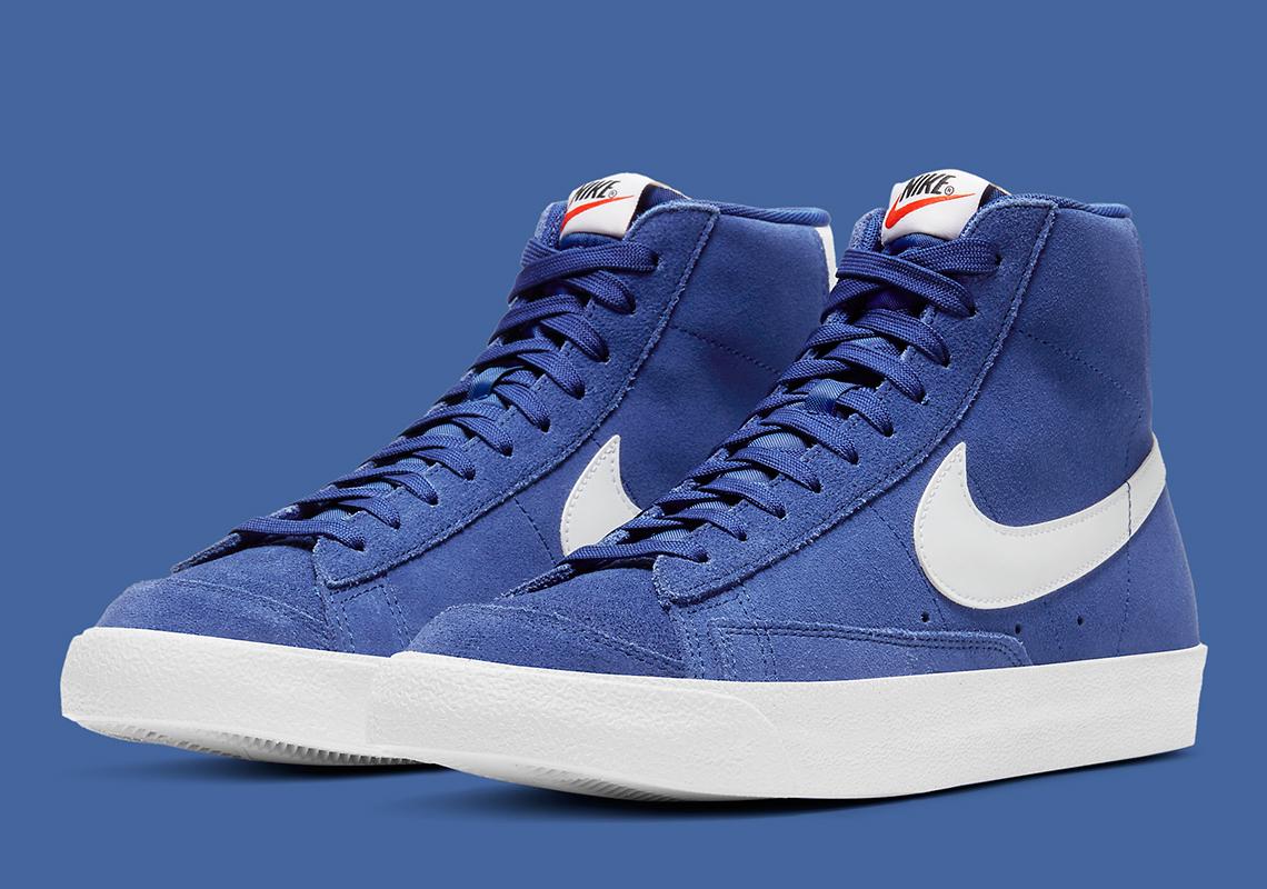 Nike Blazer Mid '77 Suede Bleu Royal CI1172-402 - Crumpe
