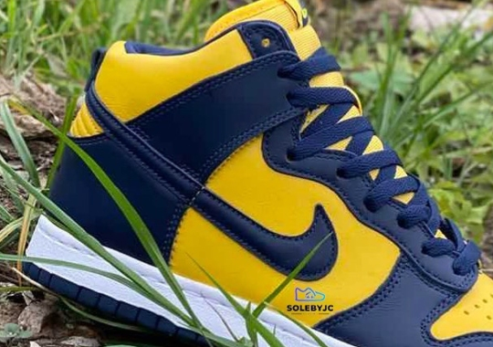 "First Look At The Nike Dunk High SP ""Michigan"""