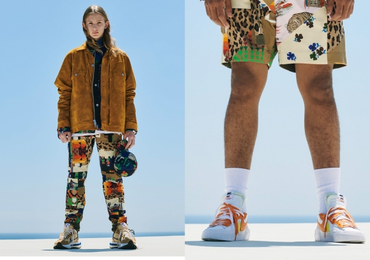 sacai Teases Upcoming Nike Vapor Waffle And Blazer Low Colorways With SS21 Lookbook