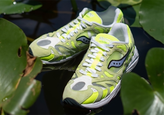 The Saucony Grid Azura 2000 Gets Delivered In A Neon Volt Colorway