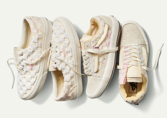 Vans Adds Chenille Materials On Their Inside Out Pack In Arctic Pink