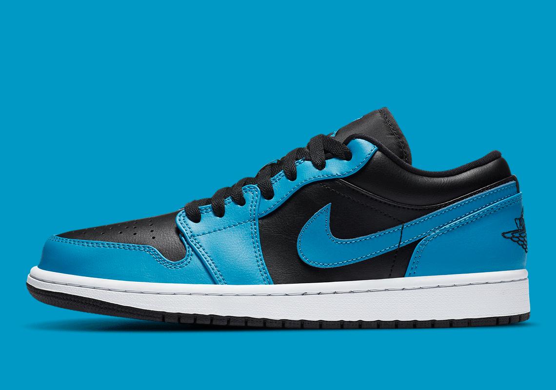 Air Jordan 1 Low Laser Blue Black 553558-410 | SneakerNews.com