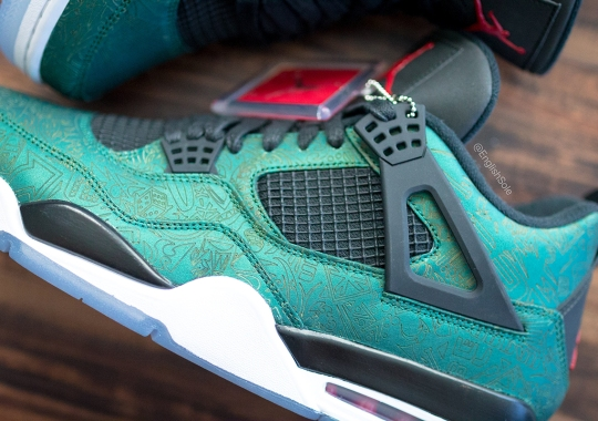 "Only 68 Jordan Employees Received This Unreleased Air Jordan 4 ""Green Laser"""