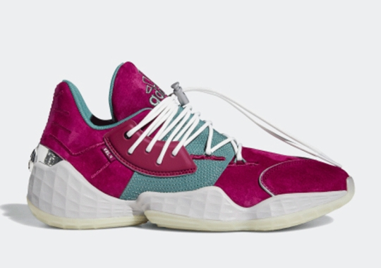 "James Harden And Daniel Patrick Deliver An adidas Harden Vol 4 ""Power Berry"""