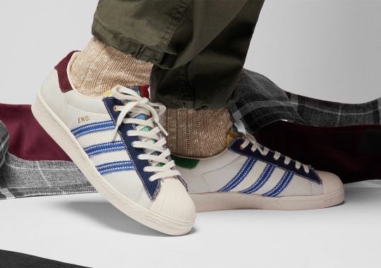 END Uses Sashiko Stitch and Patchwork To Celebrate The adidas Superstar