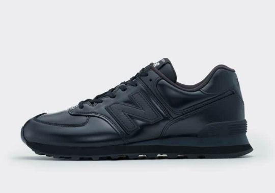 Junya Watanabe Styles The New Balance 574 In Full Black Patent Leather