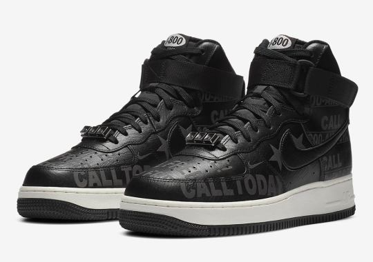 "The Nike Air Force 1 High ""Hotline"" Covered In Toll Free Number Graphics"