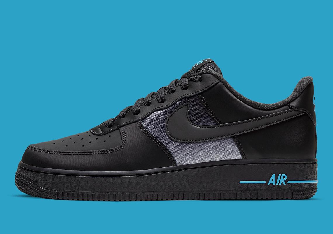 Nike Air Force 1 Low Black Laser Blue