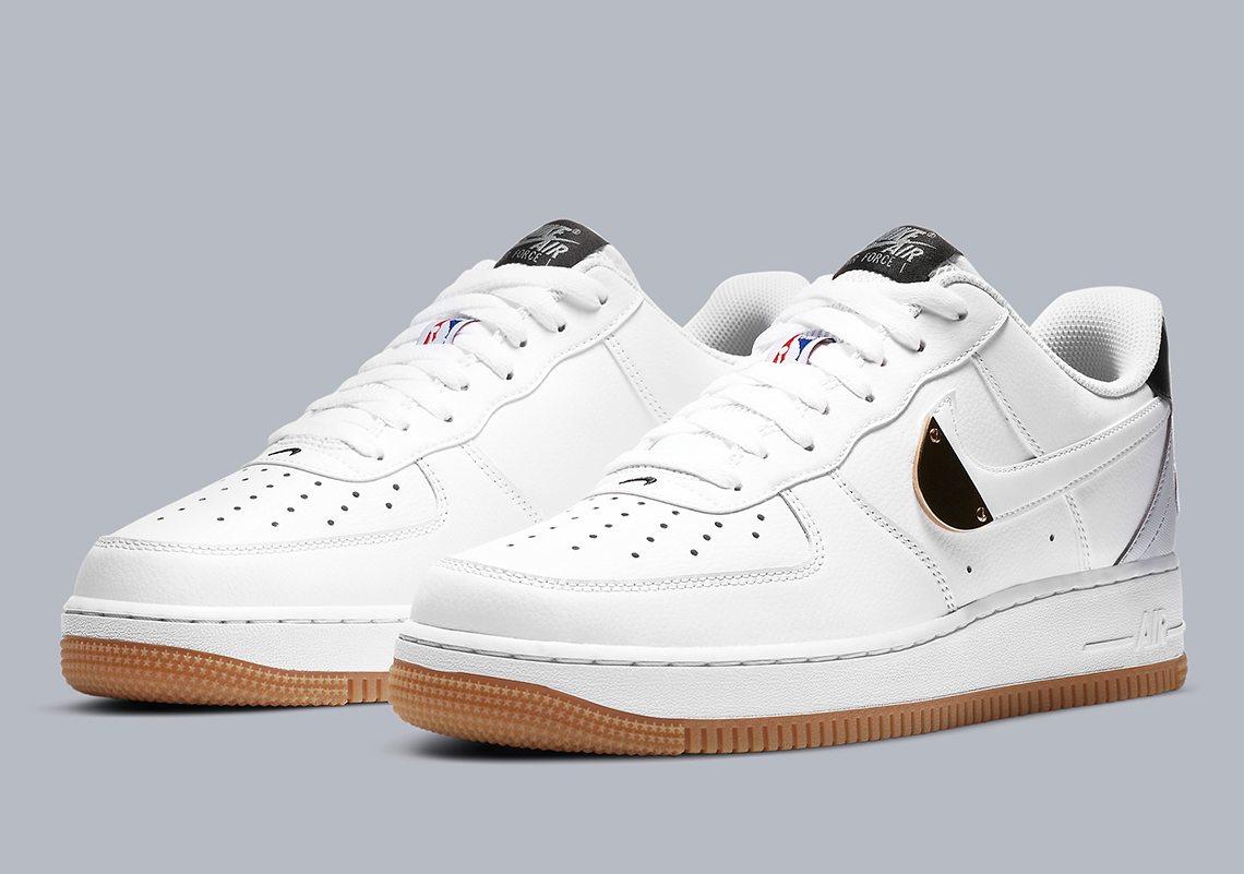Ciego Pase para saber Cualquier  Nike Air Force 1 NBA CT2298-100 Release Info | SneakerNews.com
