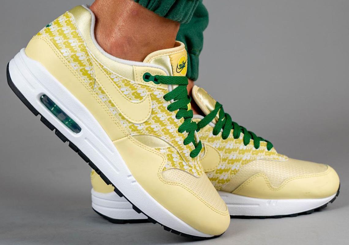 Nike Air Max 1 Lemonade Powerwall CJ0609-700 | SneakerNews.com