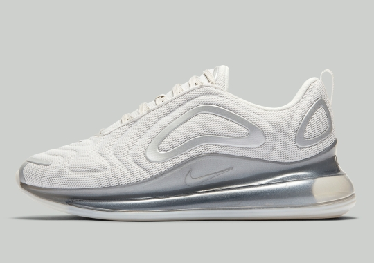 The Nike Air Max 720 Appears In Clean White And Platinum Tint