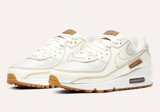 Contrast Stitching Dominates This Nike Air Max 90 In Sail And Gum