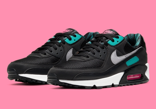 The Ever-Popular Teal And Pink Come Together On The Nike Air Max 90