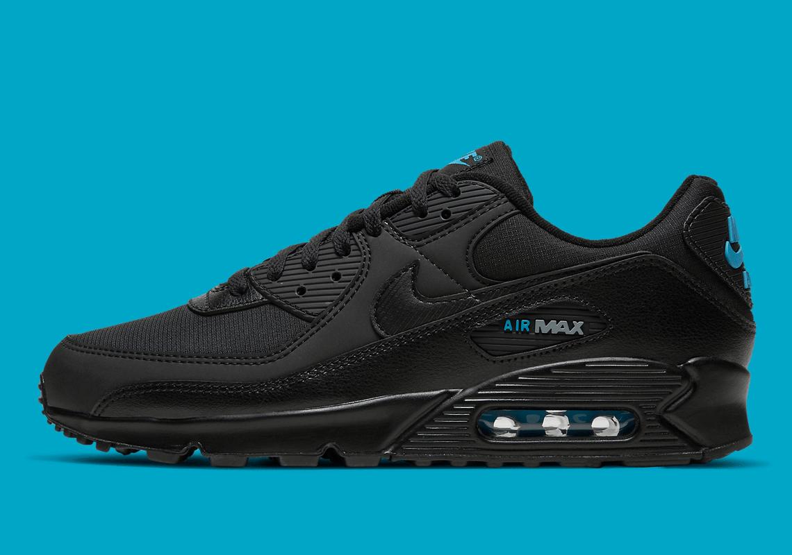 Nike Air Max 90 Noir Laser Bleu DC4116-002 - Crumpe