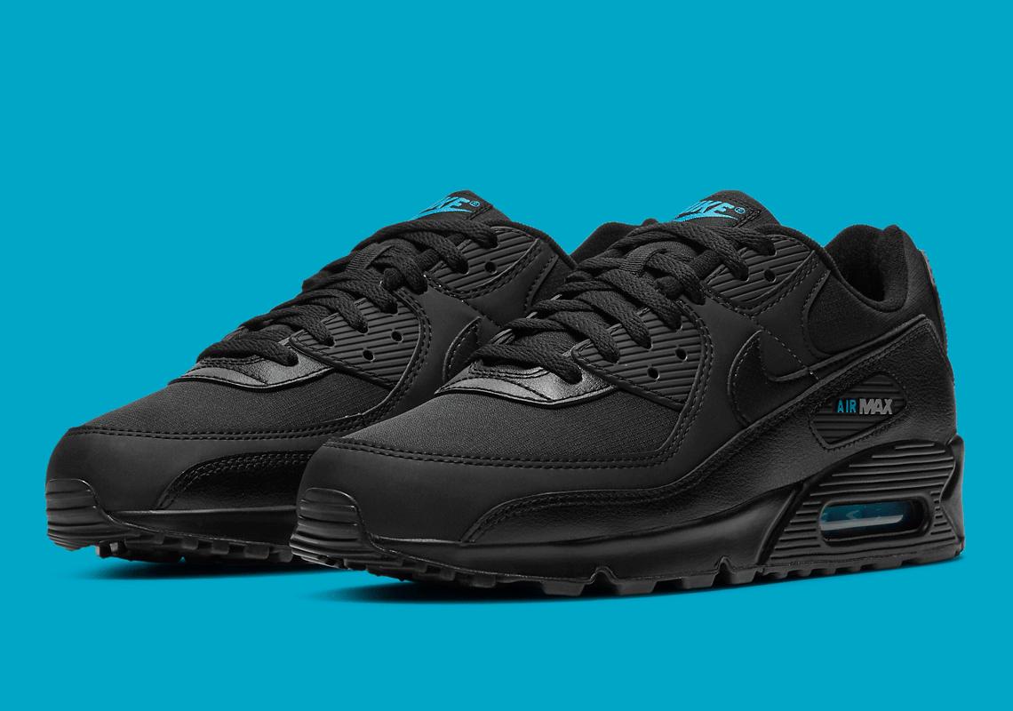 Nike Air Max 90 Black Laser Blue DC4116-002 | SneakerNews.com