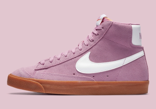 Nike Blazer Mid '77 Pairs Classic Gum With Soft Pink Suede