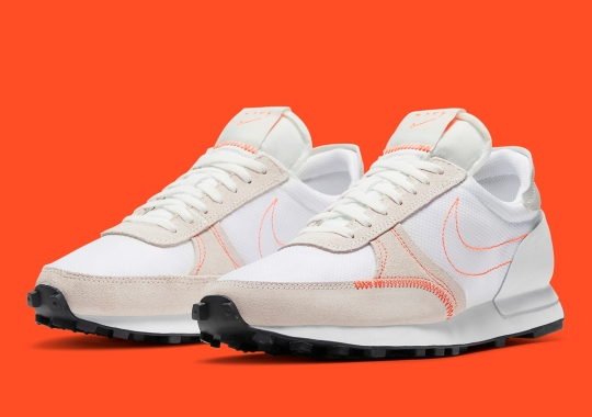 The Nike Daybreak Type Adds Contrast With Crimson Stitching