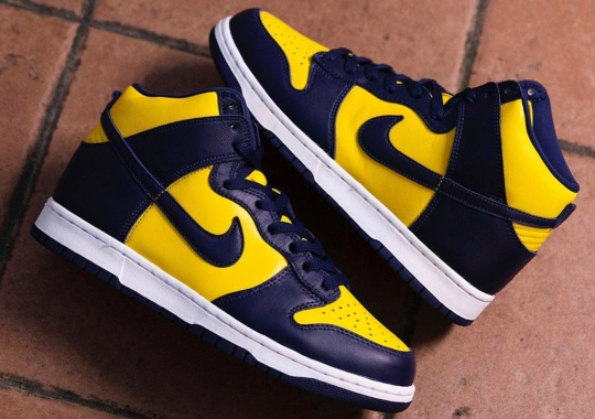 "The Nike Dunk High SP ""Michigan"" Releases Tomorrow"