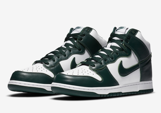 """Where To Buy The Nike Dunk High SP """"Spartan Green"""""""