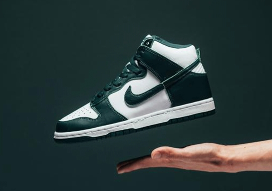 """The Nike Dunk High SP """"Spartan Green"""" Releases Tomorrow"""